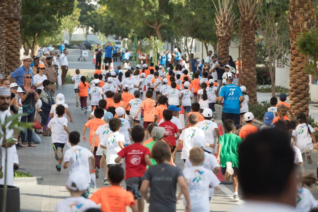 Thousands of Kids' Run youngsters launch Al Mouj Muscat Marathon in spectacular fashion