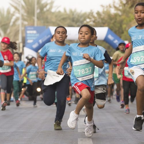 Youngsters and charity runners take centre stage at the Al Mouj Muscat Marathon